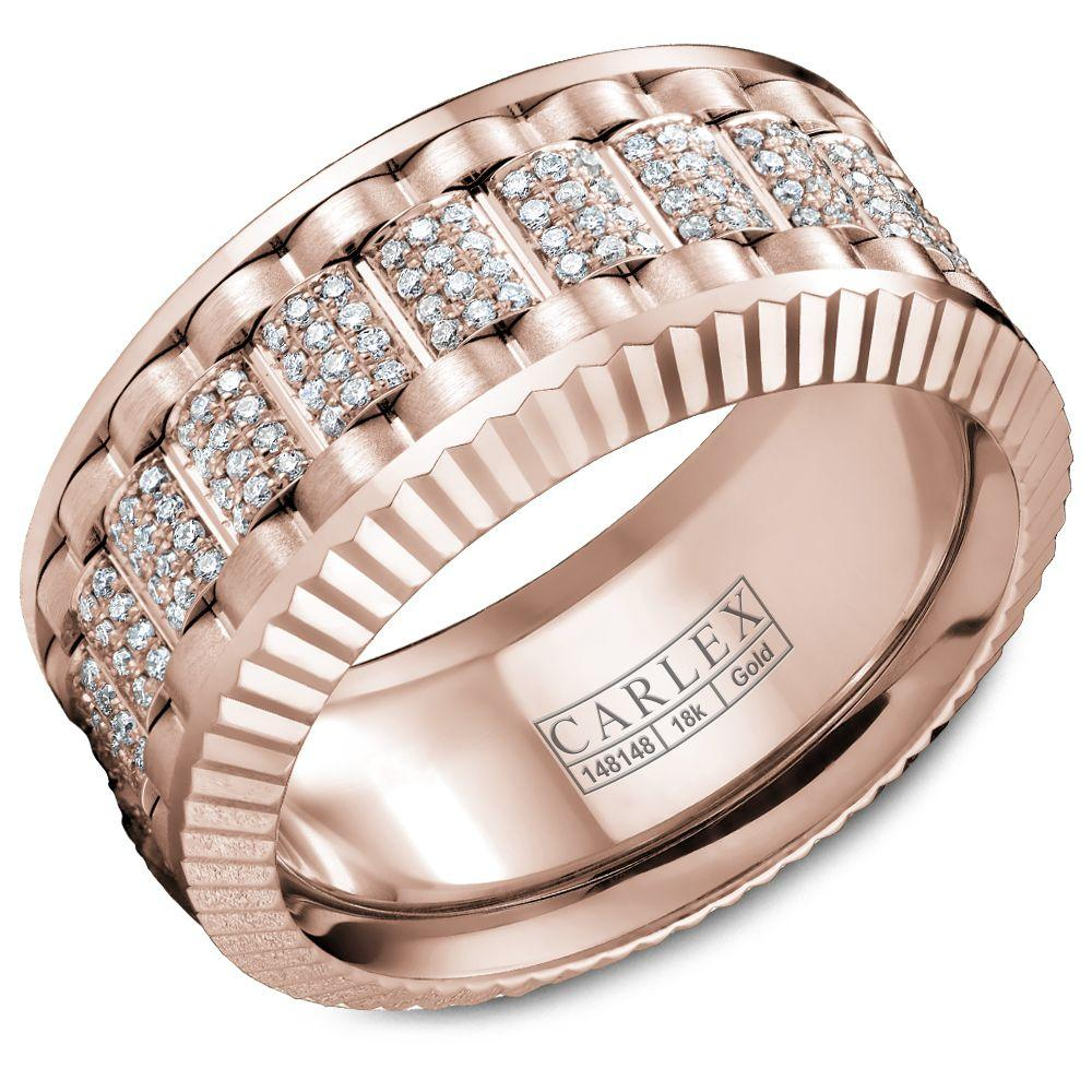 Crowning Luxury Ring In Rose Gold and Rose Gold 10mm with 264 Round Diamonds Carlex Collection