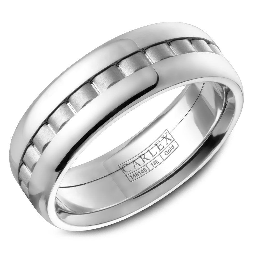 Crowning Luxury Ring In White Gold 7.5mm Carlex Collection