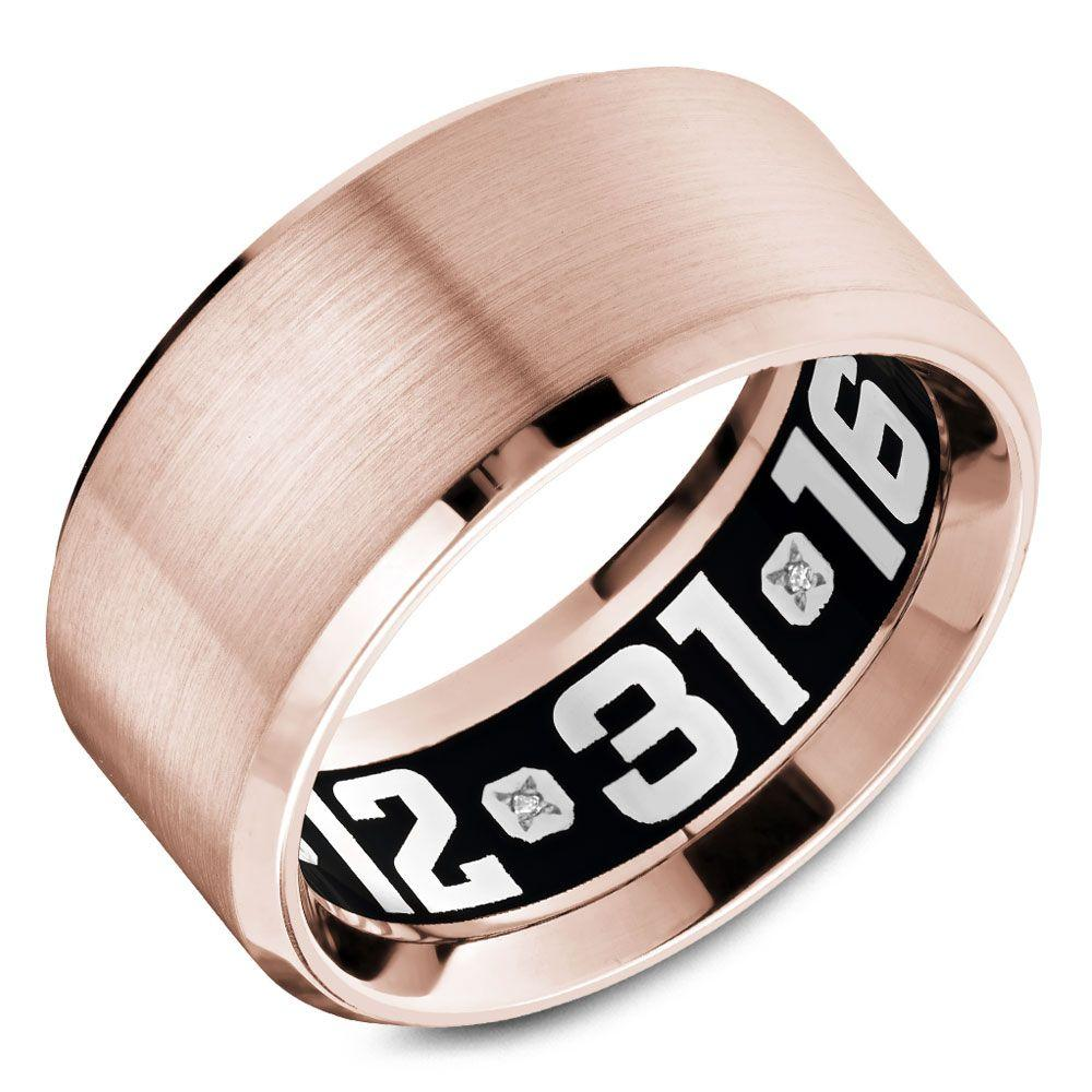 Crowning Luxury Ring In Rose Gold 10.5mm Carlex Collection