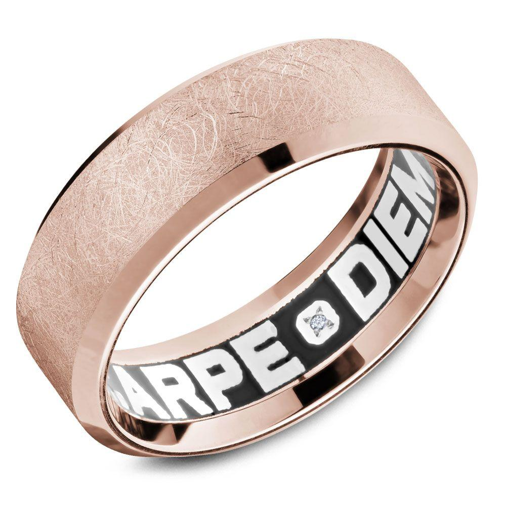 Crowning Luxury Ring In Rose Gold 7.5mm Carlex Collection