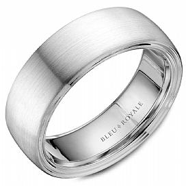 Dulcet White Gold Wedding Band For Men
