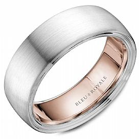 Dulcet Rose Gold Interior Wedding Band For Men