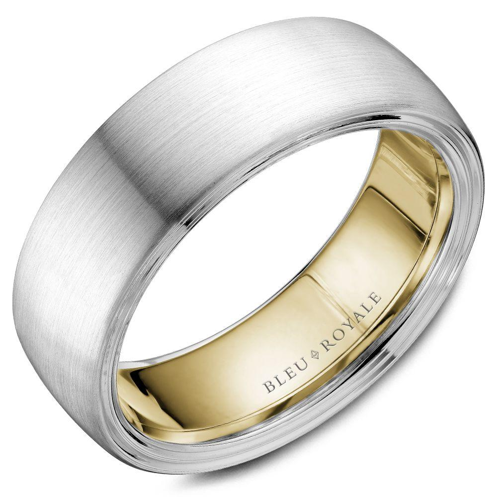 Dulcet Yellow Gold Interior Wedding Band For Men
