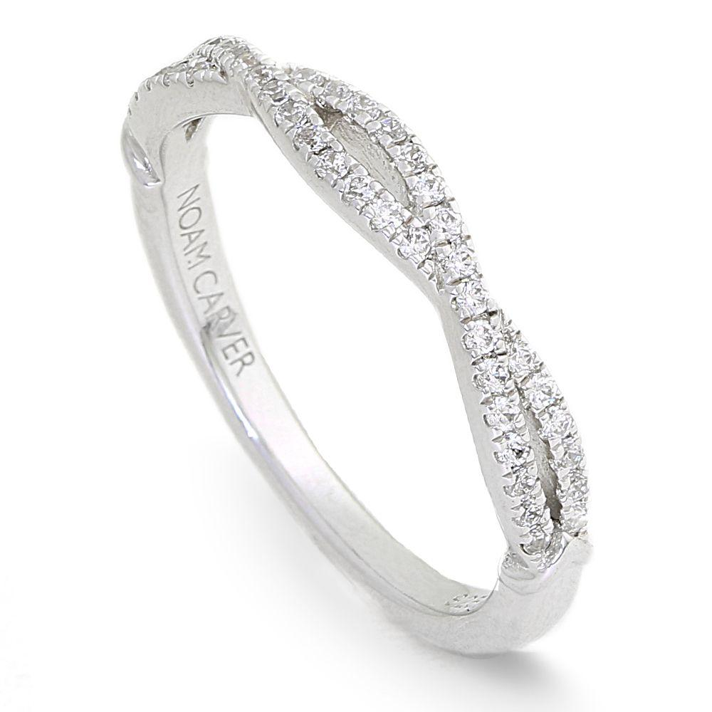 Crownring Noamcarver White Gold Wedding Ring For Women - Stackables