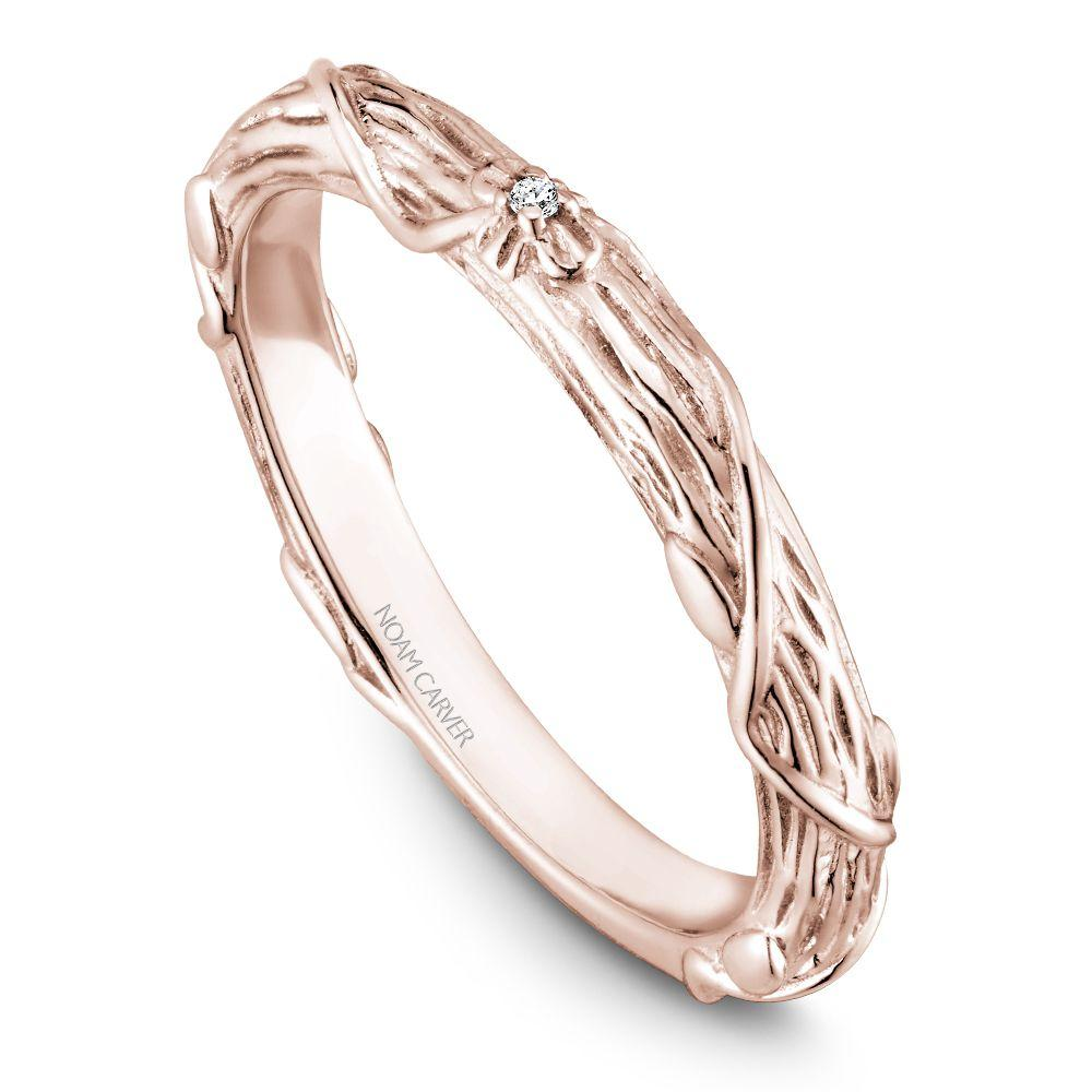 Crownring Noamcarver Rose Gold Wedding Ring For Women - Stackables