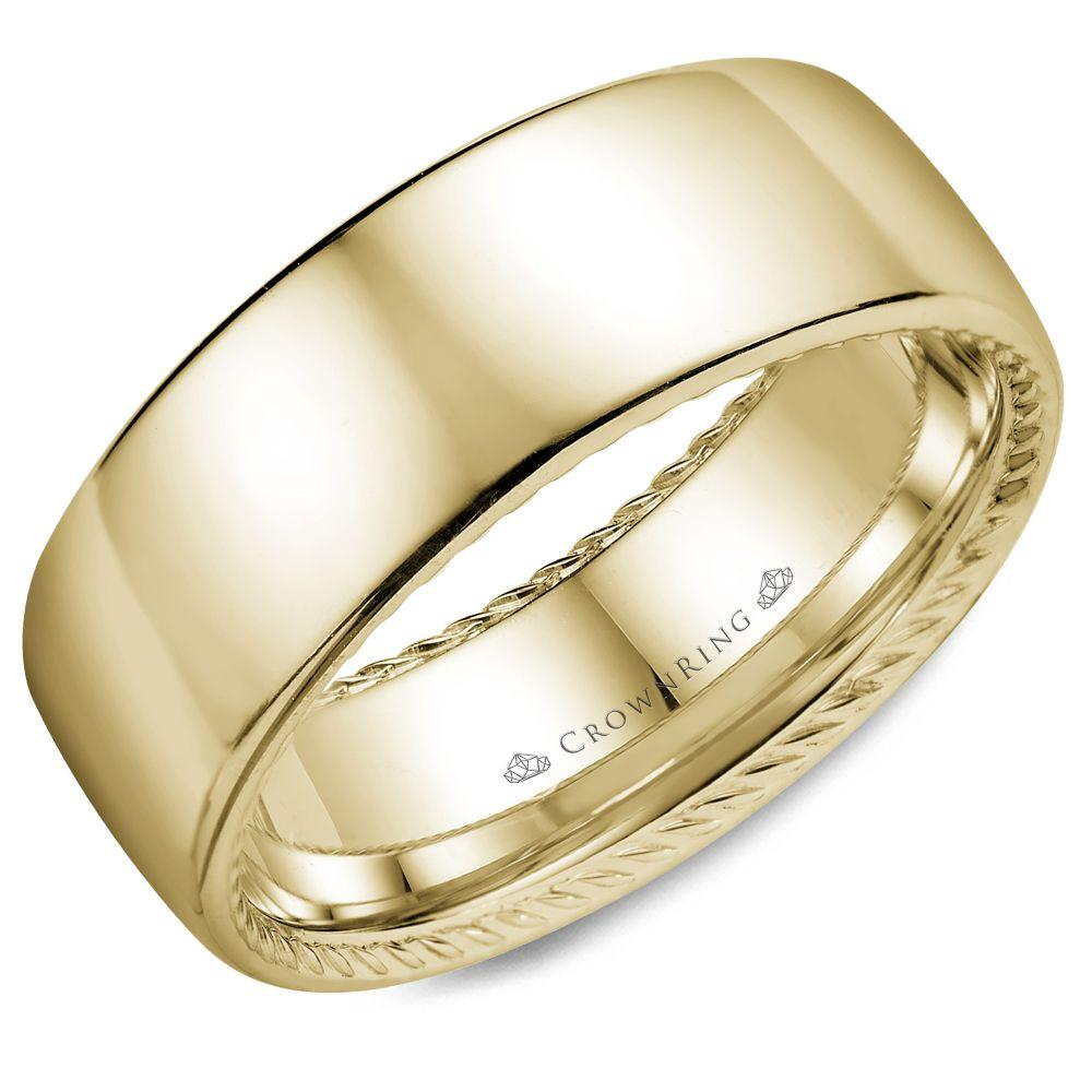 Classic Yellow Gold Men's Wedding Band