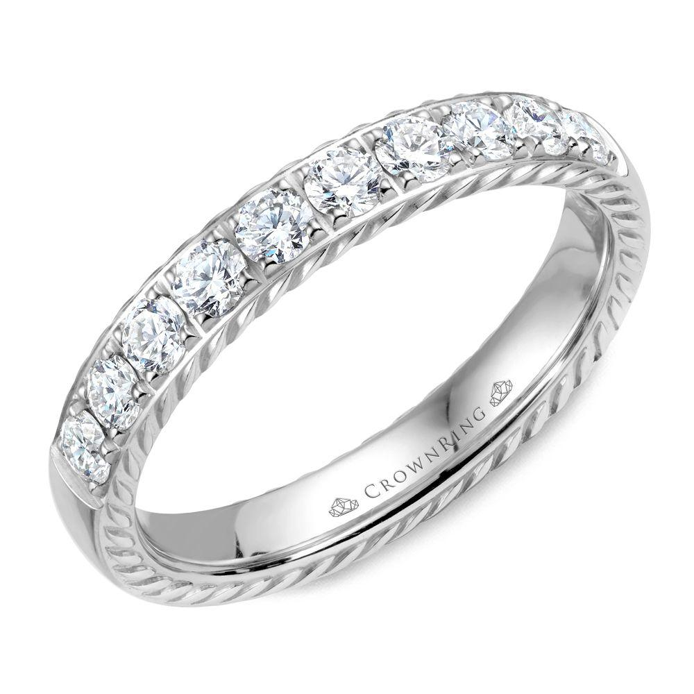 Unique White Gold Women's Wedding Band