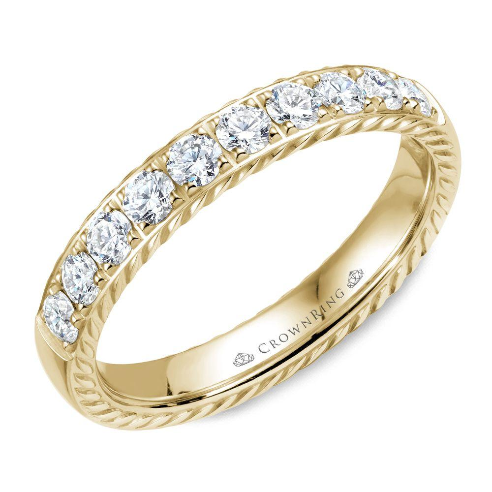 Unique Yellow Gold Women's Wedding Band