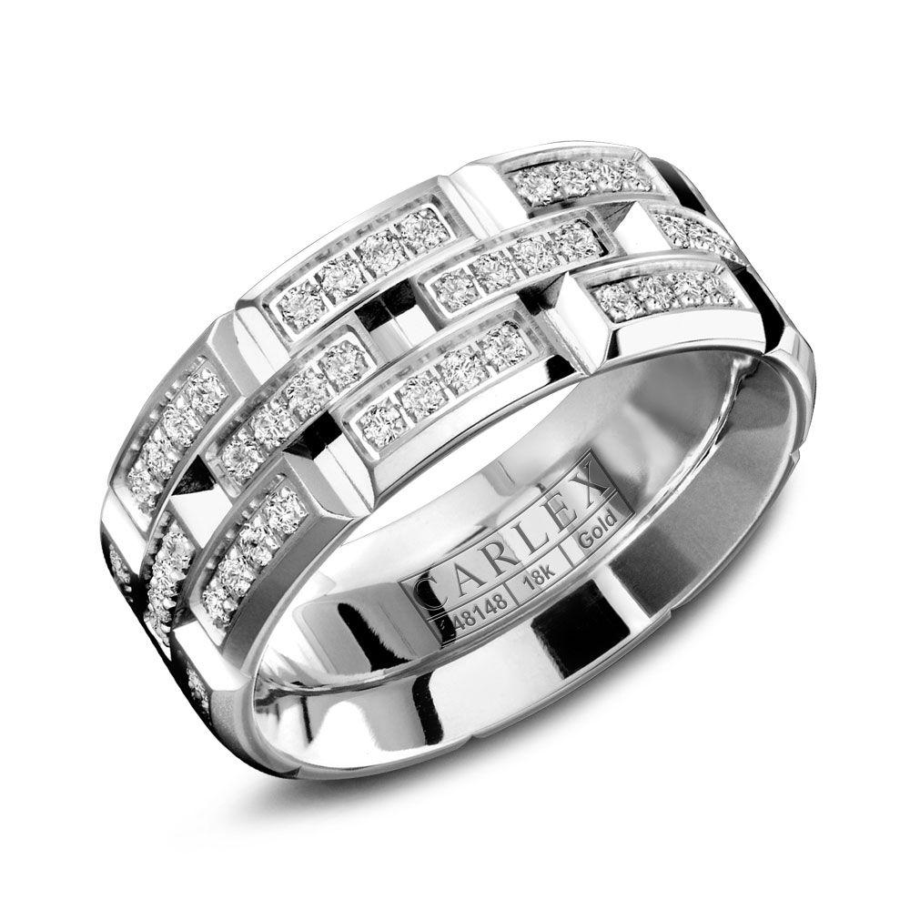 Crowning Luxury Ring With White Gold 7.5mm and 96 Diamonds Carlex Collection