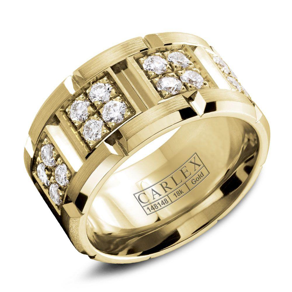 Crowning Luxury Ring In Yellow Gold and 32 Round Diamonds Carlex Collection