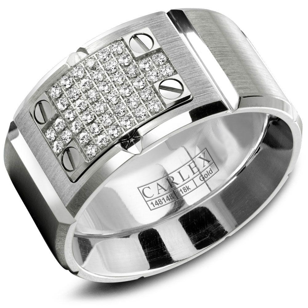 Crowning Luxury Ring In White Gold with 44 Round Diamonds 11.5mm Carlex Collection