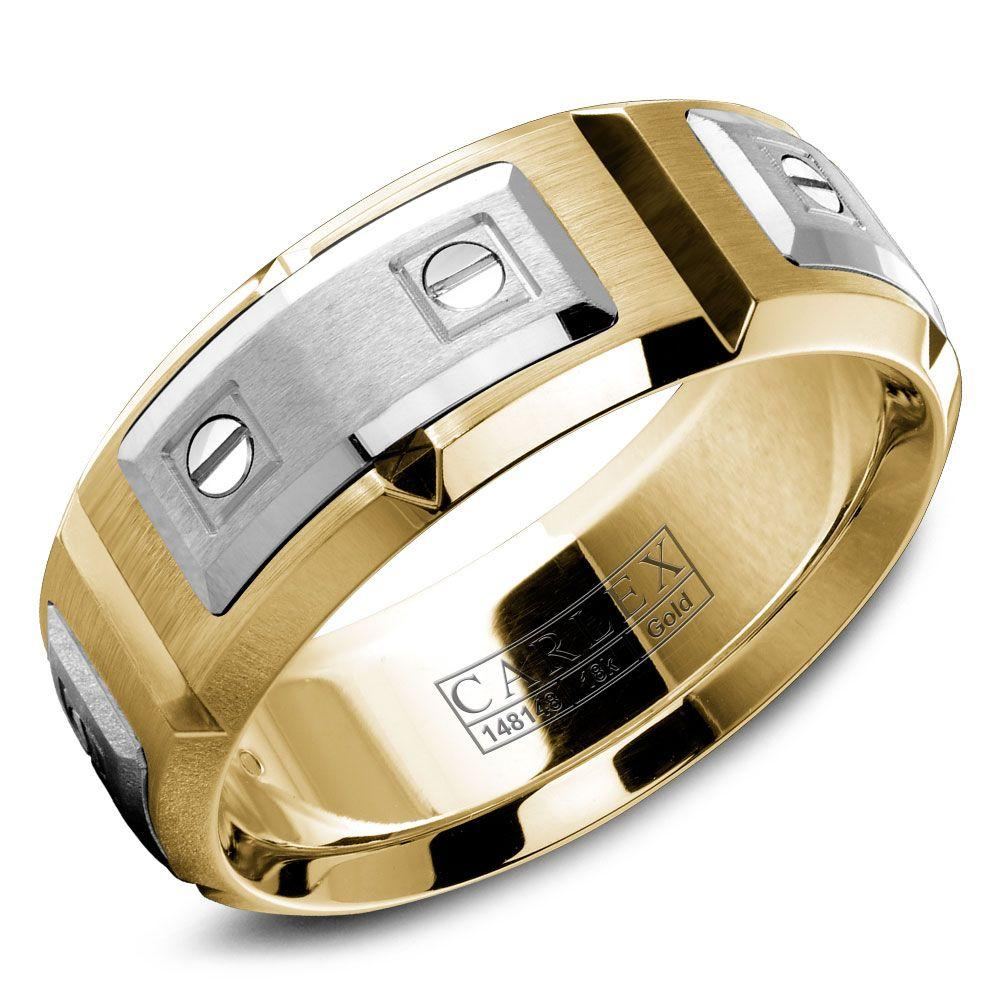 Crowning Luxury Ring In Yellow Gold 8mm Carlex Collection