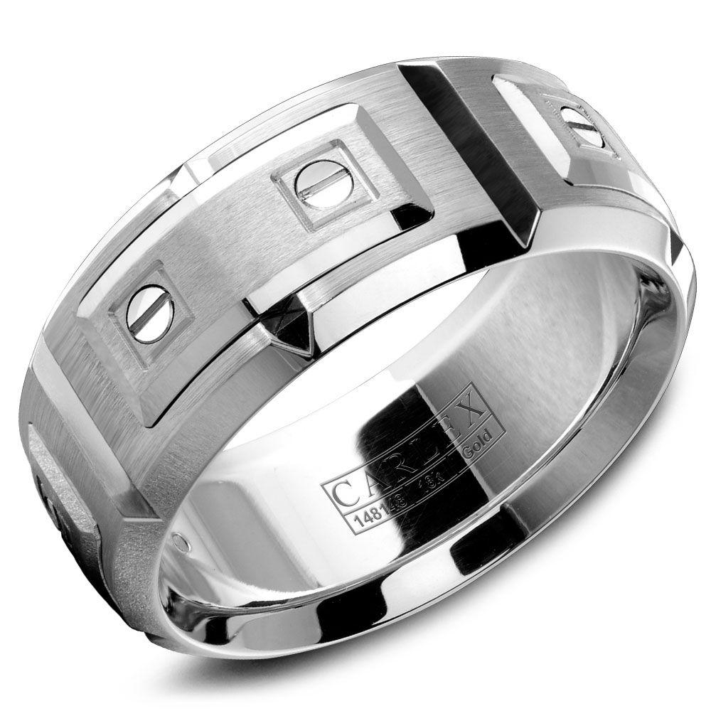 Crowning Luxury Ring In White Gold 9.5mm Carlex Collection