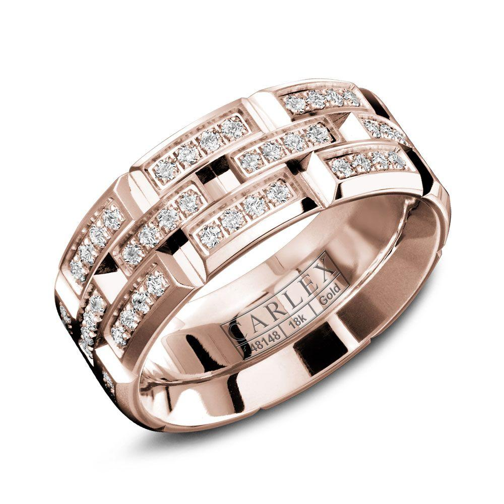 Crowning Luxury Ring With Rose Gold 7.5mm and 96 Diamonds Carlex Collection