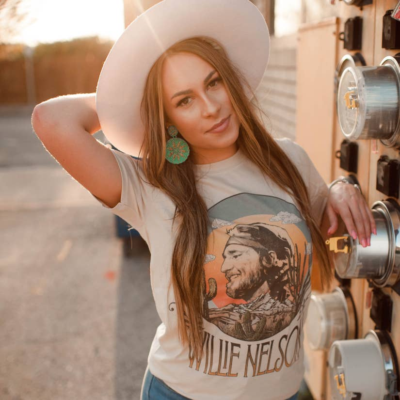 Willie Nelson Cactus Tee
