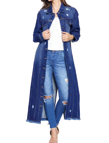 Dark Denim Duster