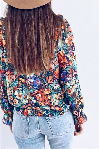Retro Inspired Floral Blouse