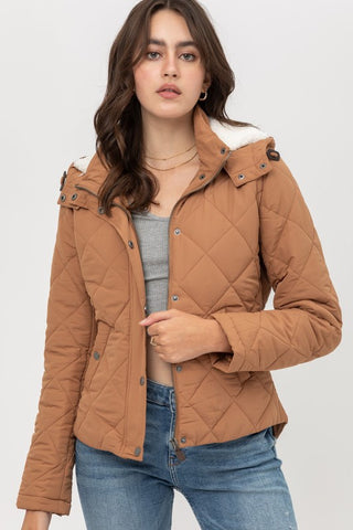 Quilted Puff Hoodie Jacket