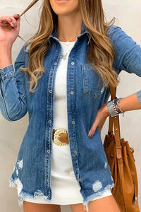 Dark Denim Button Down Shirt