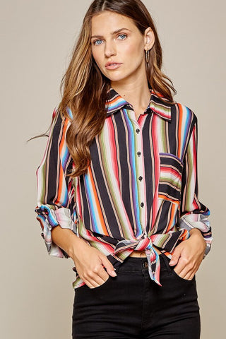 Embroidered Steer Head Blouse