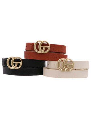 Thin GG Gucci Inspired Belt