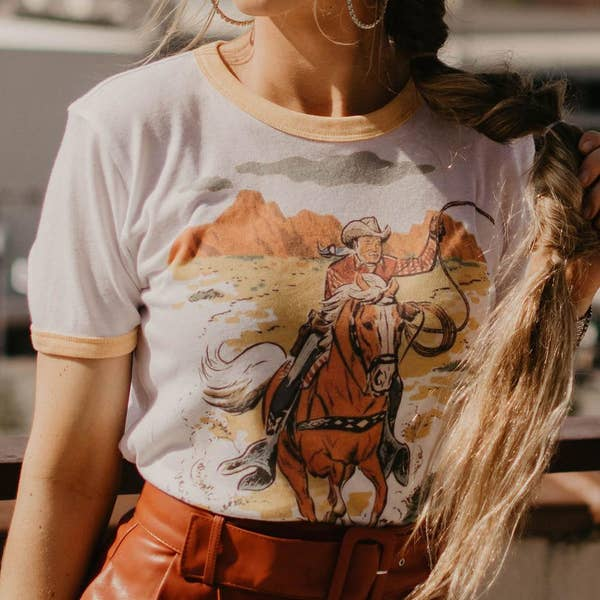 Roy Rogers Ringer Graphic Tee