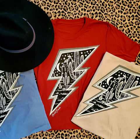 Desert Lightning Bolt Tee