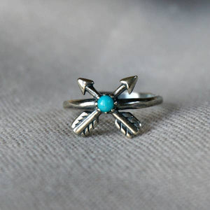 Arrow Cross Turquoise Ring