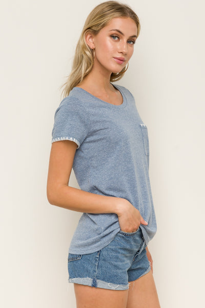 Denim Heather Tee