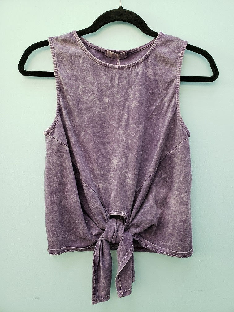 Purple Mineral Washed Tank