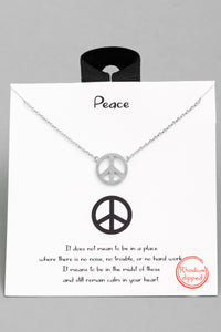 Dainty Peace Necklace