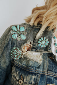 Turquoise Cluster Pin