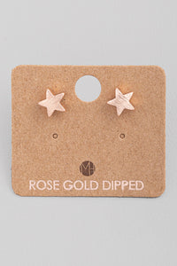 Mini Rose Gold Star Studs