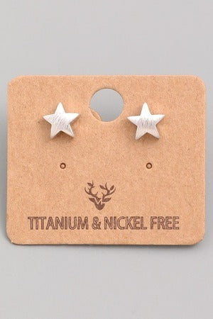 Mini Star Studs Earrings