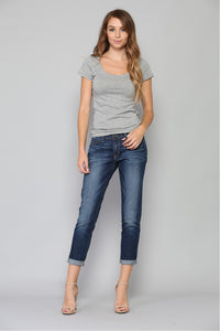 Flying Monkey Crop Boyfriend Jean