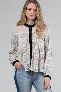 Lace Paneled Blouse