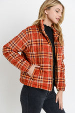 Plaid Puffy Jacket
