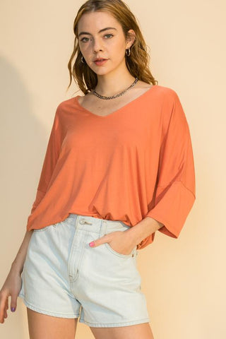 Copper Knit Tee
