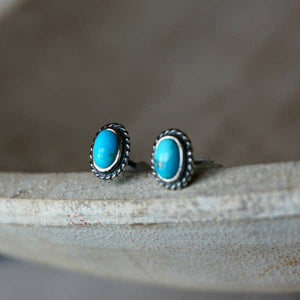 Reno Turquoise Stud Earrings