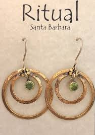 Ritual Green Peridot Earrings