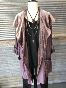Woven and Velvet Jacket
