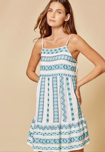 Lulu Turquoise Embroidered Dress
