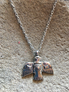 Silver Taos Thunderbird Necklace