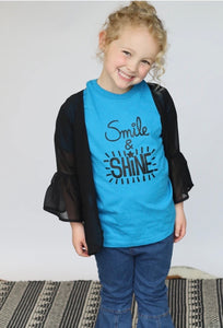 """Smile & Shine"" Graphic Tee"