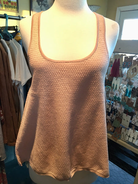 Peach Sweater Tank