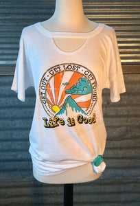 """Life Is Good"" Graphic Tee"