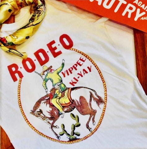 """Yippee-Ki-Yay"" Rodeo Graphic Tee"