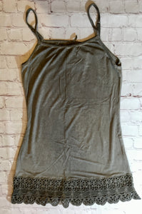 Mineral Wash Lace Tank