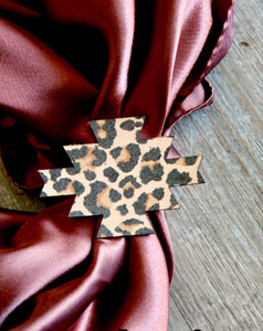 Leather Leopard Scarf Slide