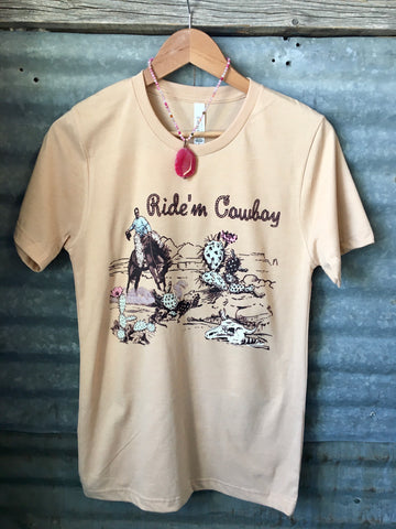 """Ride'm Cowboy"" Graphic Tee"